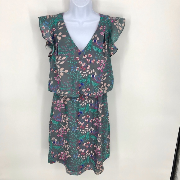 Jessica Simpson Dresses & Skirts - Grey and Pastel Floral Spring Dress